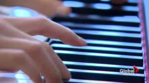 Brothers play piano at Saskatoon City Hospital to help patients